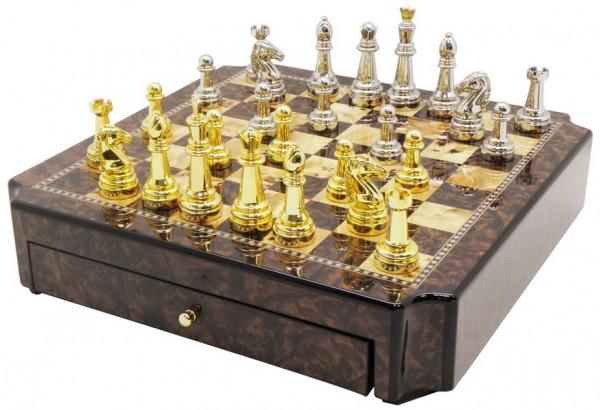 Шахматы ARMS D-9527, Корпус: Дерево, Покрытие: Глянцевый лак, Высота фигур: От 4 до 7,5 см, Цвет: Чёрный