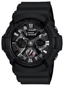 Часы электронные наручные мужские Casio G-SHOCK GA-201-1ADR, Механизм: Кварц, Браслет: Ремешок из полимерного