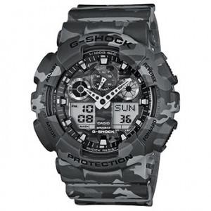 Часы электронные наручные мужские Casio G-SHOCK GA-100CM-8AER, Механизм: Кварц, Браслет: Ремешок из полимерног