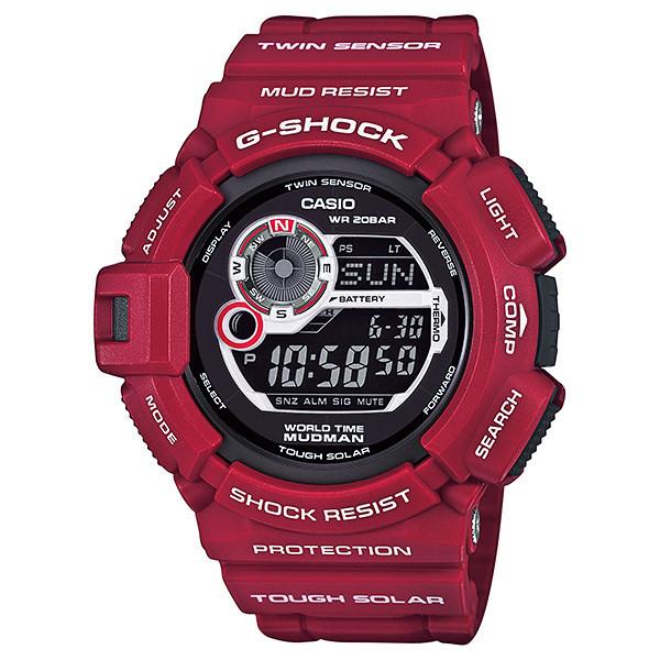 Часы электронные наручные мужские Casio G-SHOCK G-9300RD-4ER, Механизм: Кварц, Браслет: Ремешок из полимерного