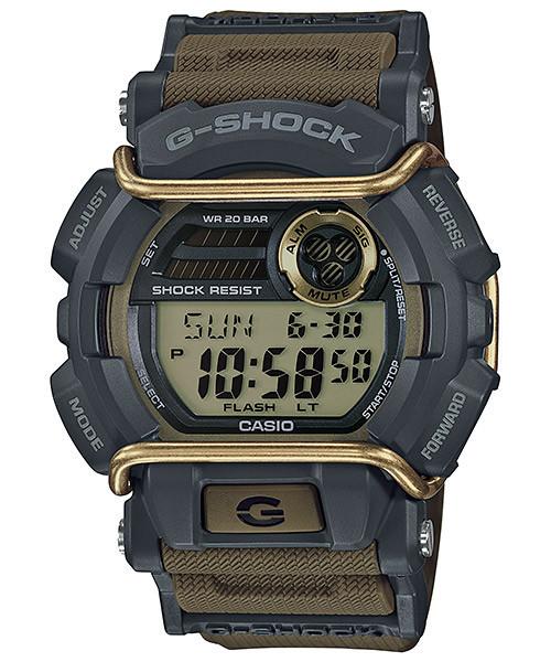 Часы электронные наручные мужские Casio G-SHOCK GD-400-9ER, Механизм: Кварц, Браслет: Ремешок из полимерного м