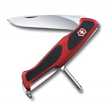Нож складной карманный Victorinox RangerGrip 53, Функционал: Туризм, Кол-во функций: 5 в 1, Цвет: Красно-чёрны