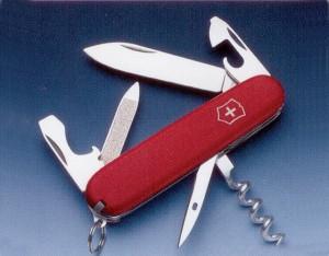 Нож складной карманный Victorinox EcoLine Sportsman, Функционал: Туризм, Кол-во функций: 14 в 1, Цвет: Красный