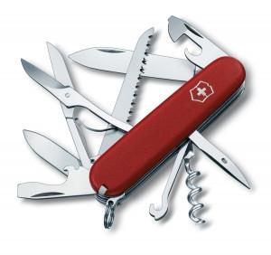 Нож складной охотничий Victorinox EcoLine Huntsman, Функционал: Туризм, Кол-во функций: 16 в 1, Цвет: Красный,
