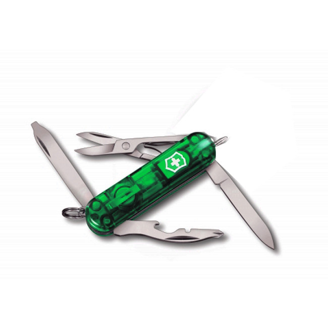 Нож складной карманный Victorinox Manager, Кол-во функций: 10 в 1, Цвет: Зелёный (полупрозрачный), (0.6365.T4)