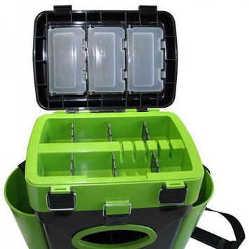 Ящик для замней рыбалки двухсекционный Helios FishBox 10.1, Объем: 10 л, Морозостойкий и ударопрочный ABS-плас