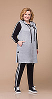 Спортивная одежда Svetlana Style-1208, серо-черный, 56 64, Вискоза 67%, полиамид 28%, спандекс 5%., серо-черный