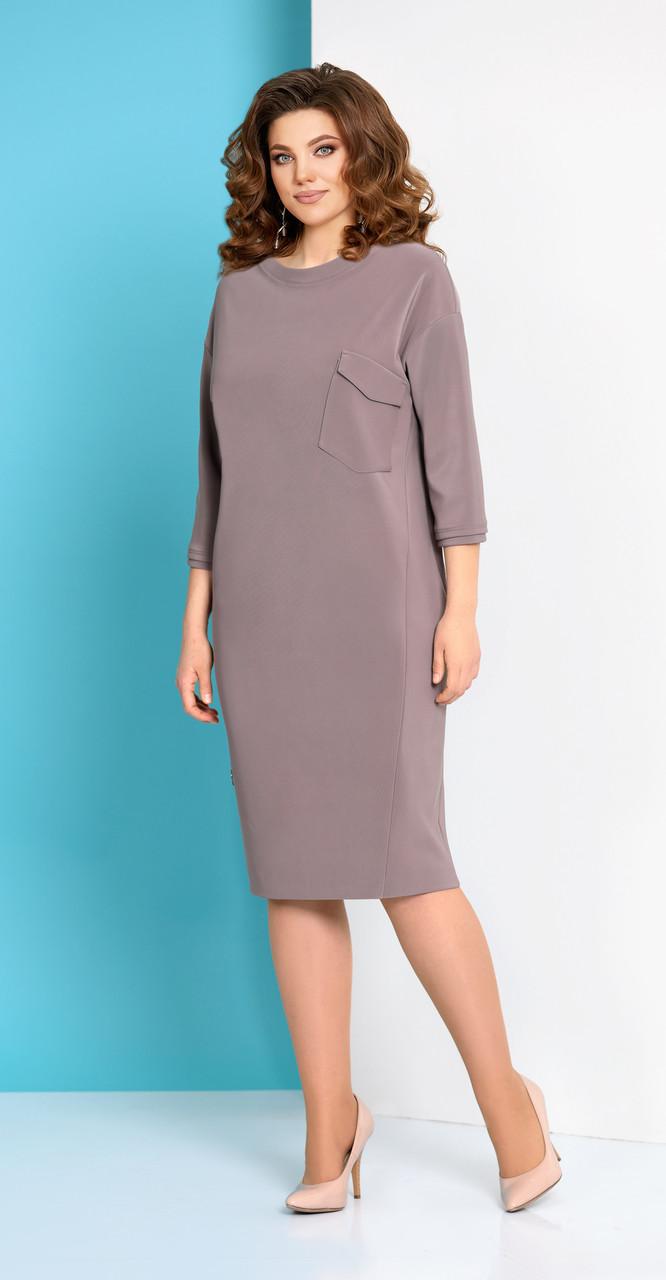 Платье AGATTI-3151, розово-коричневый, 52
