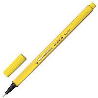 """Ручка капиллярная BRAUBERG """"Aero"""", трехгранная, металлический наконечник, 0,4 мм, желтая, 142248"""
