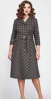 Платье Matini-31245/1, серый с красным клетка, 50