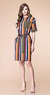 Платье Romanovich-1-1782, полоски цветные, 46