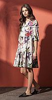 Платье Nova Line-5789, цветы, 42