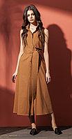Платье Nova Line-5806/1, коричневый, 42