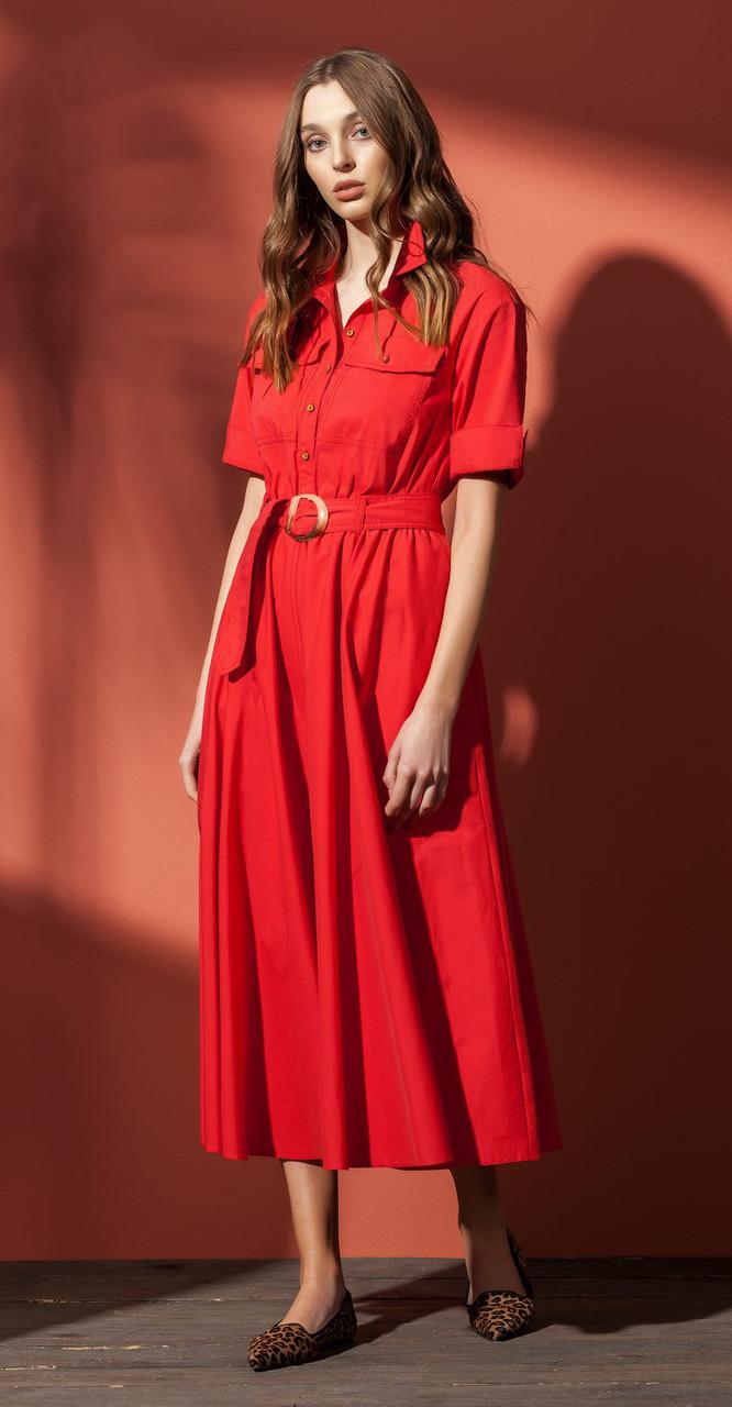 Платье Nova Line-5845/1, красный, 42