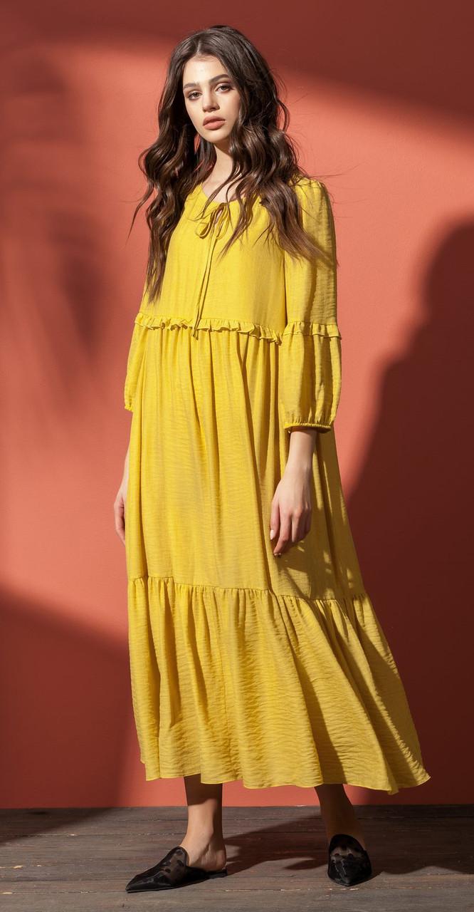 Платье Nova Line-5856, желтый, 42