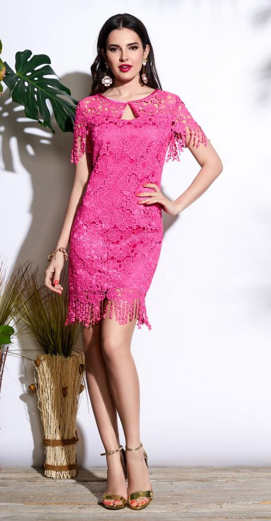 Платье Lissana-3663, розовый, 42