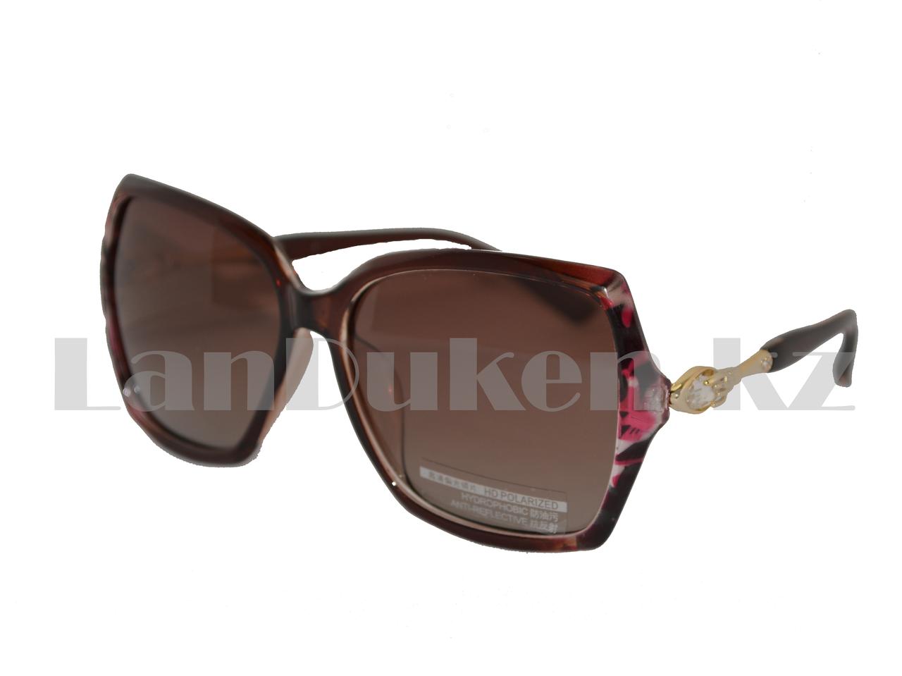 Солнцезащитные очки  HD Polarized, тигрово-коричневые с антибликовым и гидрофобным эффектом.