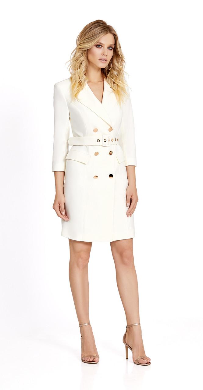 Платье PiRS-694/1, молочный, 42