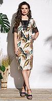 Платье Lissana-3735, перья, 48