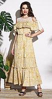 Платье Lissana-3751, горчичные тона, 46