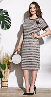 Платье Lissana-3707, серые тона, 52