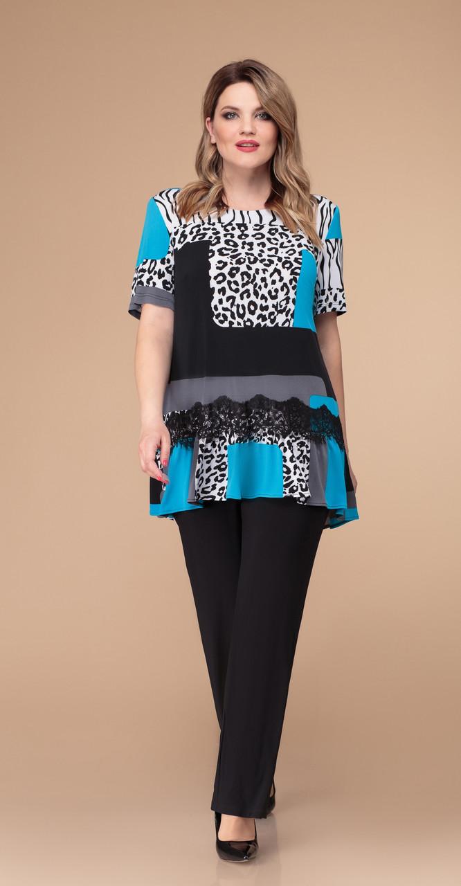 Костюм Svetlana Style-1218/1, леопард, 56