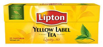 Чёрный чай «Lipton» 25 пакетиков