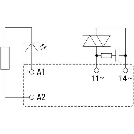 Твердотельные реле SSR 24VDC/max.240VAC 1A, фото 2