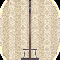 Вешалка для одежды напольная,одинарная Орех, фото 2