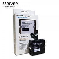 Конвертер с цифрового аудио сигнала Toslink или Coaxial на аналоговый RCA L/R, D2A (SSRIVER)