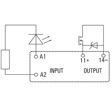 Твердотельные реле SSR 24VDC/0-24VDC 3,5A, фото 2