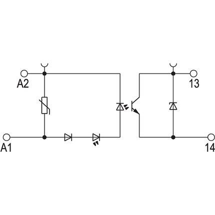 Твердотельные реле TOS 48-60VDC/48VDC 0,1A, фото 2