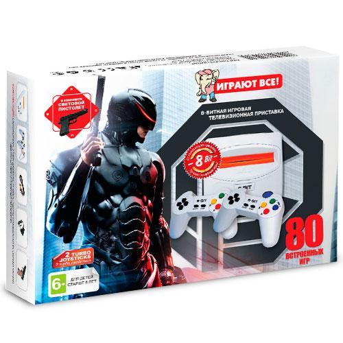 Игровая приставка Dendy Robocop 80игр+пистолет