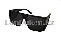 Солнцезащитные очки Ton Ford закрытые по бокам, черные