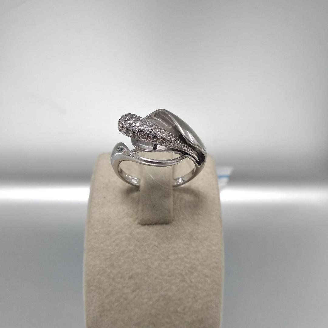Серебряное кольцо калла