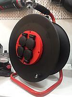 Металлическая катушка для удлинителей, 4 розетки, IP44