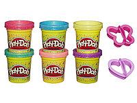 "Hasbro Play Doh ""Блестящая коллекция 6 баночек"", фото 1"