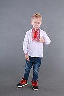 Детская вышиванка на мальчика, красно-черный узор Собственное производство