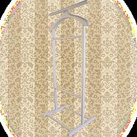 Вешалка для одежды напольная,одинарная Слоновая кость