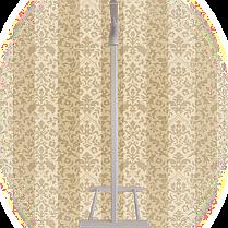Вешалка для одежды напольная,одинарная Слоновая кость, фото 3