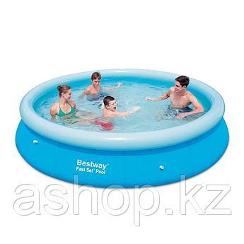 Бассейн надувной Bestway Fast Set Pool, 5 377 л (90 %),, Поливинилхлорид, Цвет: Голубой