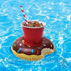 Надувная подставка для напитков для купания на море, в бассейне Пончик, Алматы