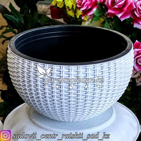"""Подвесной горшок для цветов в форме """"Корзина"""". Цвет: Белый., фото 2"""