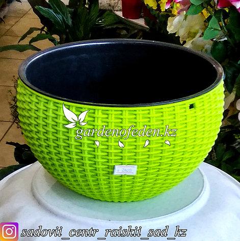"""Подвесной горшок для цветов в форме """"Корзина"""". Цвет: Зеленый., фото 2"""