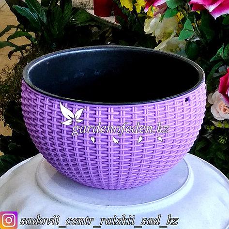 """Подвесной горшок для цветов в форме """"Корзина"""". Цвет: Сиреневый., фото 2"""