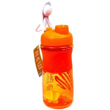 Бутылка-шейкер спортивная Cibe Bottle (Оранжевый), фото 2