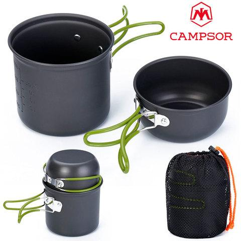 Набор туристической посуды CAMPSOR COOKING SET [4 предмета]