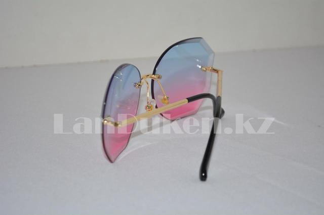 Солнцезащитные очки-авиаторы геометрической формы, цветные линзы