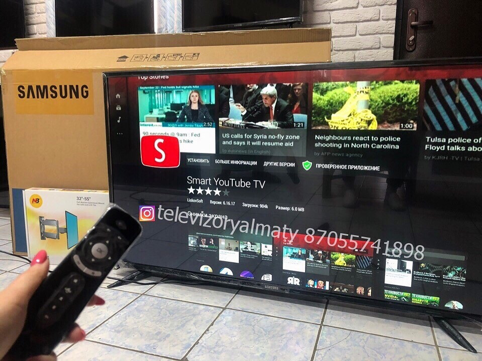 Телевизор LED TV Samsung Smart tv 55 диагональ - фото 1