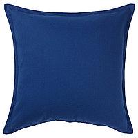 Чехол на подушку 50х50 ГУРЛИ темно-синий ИКЕА, IKEA , фото 1